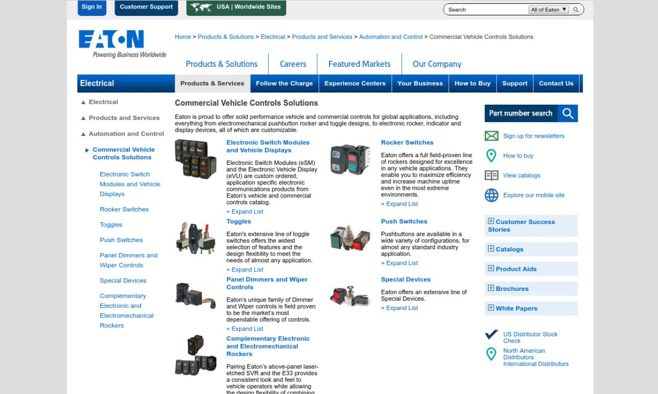 Eaton Corporation, Vehicle Controls Business Unit (VCBU)