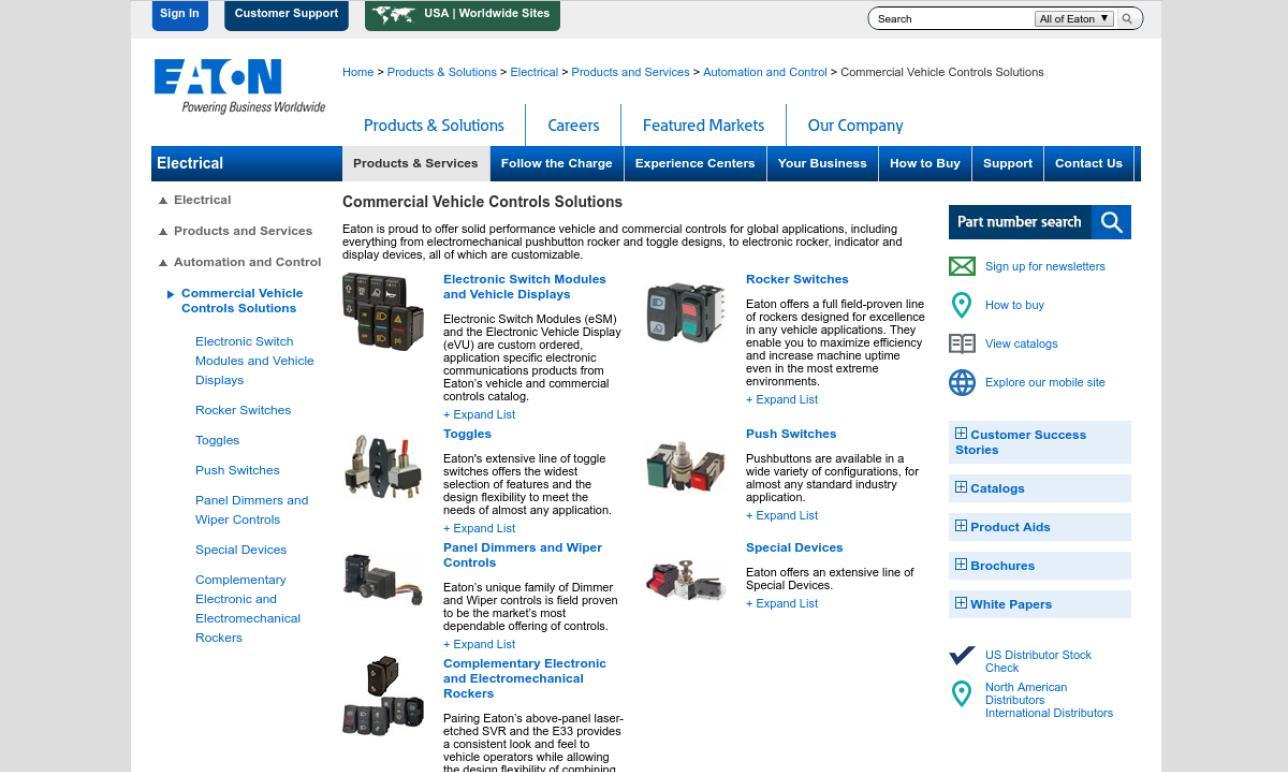 Eaton Corporation, Vehicle Controls Business Unit (VCBU)