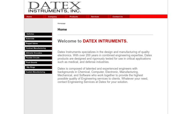 Datex Instruments, Inc.