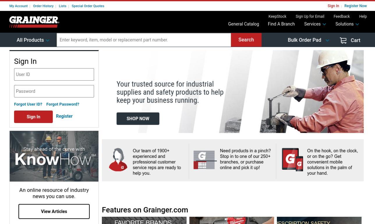 Grainger Co., Inc.